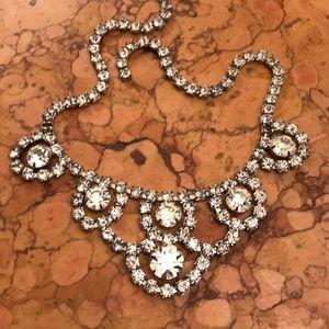 "Vintage 15"" rhinestone necklace"